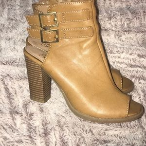 NY & Co Tan Ankle Boots
